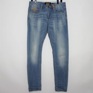 SuperDry Wilson Paperweight Zip Fly Jeans Q290